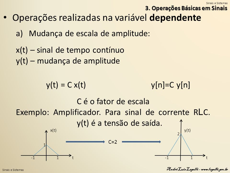 y(t) = C x(t) y[n]=C y[n]